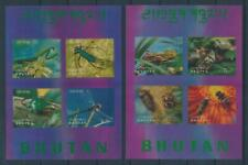 [104122] Bhutan 1969 Insects beetles 2 Souvenir sheets 3D effect MNH