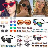 Women Multi-Coloured Sunglasses Cat Eye Oversized Sun Glasses UV400 Eyeglasses