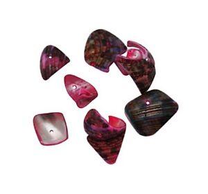 50g Muscheln Perlen Perlmutt Rosa 80stk Natur Shell Beads Schmuck Basteln U142