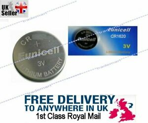 3V CR1620 BR DL ECR Lithium Button Cell battery, Eunicell Car Key Fob Remote UK