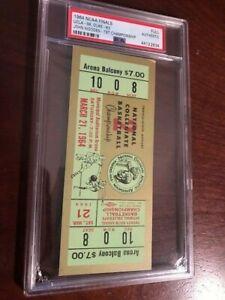 1964 NCAA BASKETBALL NATIONAL CHAMPIONSHIP FULL TICKET PSA HIGH GRADE WOODEN 1ST