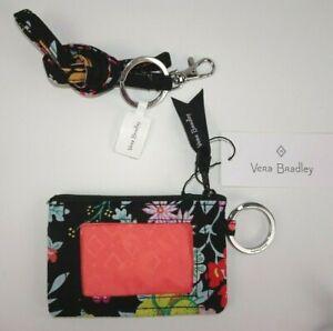 NWT Vera Bradley ZIP ID CASE and LANYARD Tangerine Twist