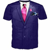 Tuxedo Suit Tie Funny 3D Print Mens Short Sleeve Casual T-Shirt Graphic Tee Top