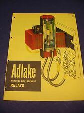 Adlake Catalog Vintage 1950's Adams & Westlake Co. Mercury Relays Color Graphics