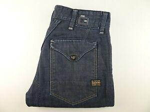 """G-STAR RAW Mens Jeans Blue Denim Straight Leg Fit SIZE W33 L32 Waist 33"""" Leg 32"""""""