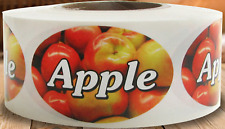 """1.25"""" X 2"""" Apple Labels 500 per Roll Great Stickers"""