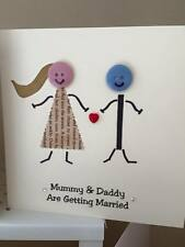 10 x Button Head Wedding Invitations Mummy and Daddy Are Getting Married