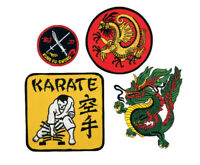 Martial Arts Patches Karate Kung Fu Sword Dragon Embroidery patch Sew-On
