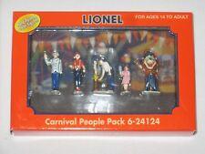 Lionel 24124 Carnival People Pack (Pewter) w/ Lenny Lion for O/027 Gauge 2008