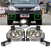 Left Right Side LED Front Bumper Fog Light Lamps For Honda CRV CR-V RE 2010-2012