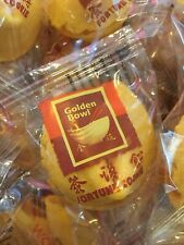 """Golden Bowl Fortune Cookies 10-300 pcs Individually Wrapped """"Free Shipping"""""""