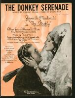 The Firefly 1937 Donkey Serenade JEANETTE MacDONALD Movie Sheet Music Q09