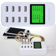 Universal 8 Fach LCD Multi USB Port 12V Netzteil Adapter Ladegerät Ladestation