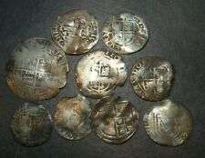 Medieval Silver 9 Coins Lot 1300-1400's Crusader Cross Lot Ancient Great Britain