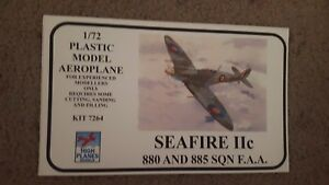 Instructions and Box Art for a High Planes Seafire IIC
