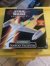 Star Wars Episode 1 Electronic Naboo Fighter 1999 Hasbro Item No 84099 NEW 😎