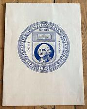 GEORGE WASHINGTON UNIVERSITY VINTAGE MAP of WASHINGTON DC by HENRY S LIEBSCHUTZ
