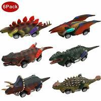 Dinosaur Car Toys for 2-10 Year Old Boys Girls, Pull-Back Dinosaur Cars Toys Set