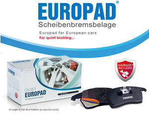 For Mercedes-Benz E 200 D [W210] 1995 - 2002 Europad Rear Disc Brake Pads DB1321