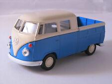 Welly VW  Pritsche Bus Buli T1 / Blau-Weiß /Rückzugmotor/Druckgussmodel 1:39 OVP