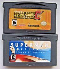 Superman Returns: Fortress & Super Robot Taisen Nintendo Game Boy Advance Games