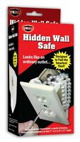 Hidden Wall Safe Electrical Outlet Security Safe with Key Electric Money Jewelry