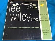 "Original 10"" Female Vocal Jazz LP : Lee Wiley ~ Lennie Tristano Plays ~ Allegro"