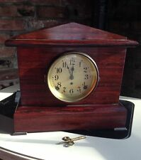 Antique Seth Thomas Adamantine 1 bell Mantle clock Pat. 1880 Works Rosewood