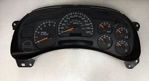 2003 2004 Chevy GMC Silverado Sierra Rebuilt Speedometer Gauge Cluster 15114649