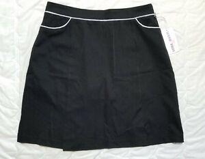 1 NWT CATHERINE WINGATE WOMEN'S SKORT, SIZE: 6, COLOR: BLACK/WHITE (J186)