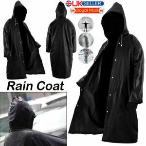 Men Women Waterproof Raincoat Outdoor EVA Cloth Long Rain Coat Poncho With Hat