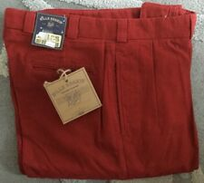 NWT Bills khakis M1P-ROXB Size 35 OXFORD CANVAS Red PLEATED MSRP $165