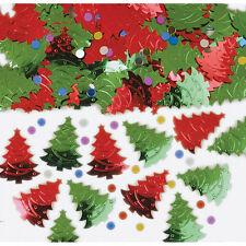 Vert et Rouge en Relief Sapins de Noël Table Vermicelles Confetti