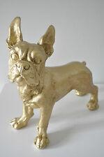 Französische Bulldogge GOLD 35 cm x 32 cm groß Designer Deko, Figur