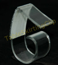 """50 LARGE TABLE SKIRTING SKIRT CLIPS   CLIP FITS TABLE EDGES 1.25"""" TO 2.5"""" THICK"""
