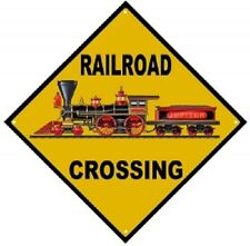 Railroad Tin Sign - 440 Baldwin Jupiter Locomotive Railroad Crossing // 040