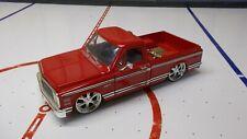 Jada Toys 1972 Chevy Cheyenne DUB Red w/ Chrome 1/24 scale No. 50580