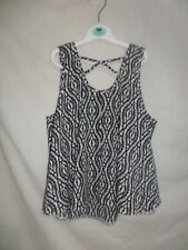 YD Girls Black & White Vest Top Size 11-12 Years