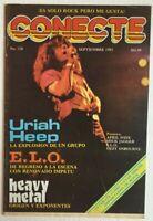 CONECTE MAGAZINE No 318 SEPTEMBER 1983 URIAH HEEP / ELO / DEF LEPPARD + POSTERS