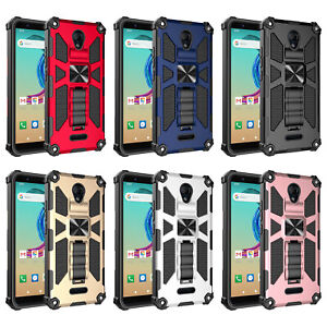 AT&T Fusion Z Case/ Motivate Case Hybrid Ring Shockproof Hard Case Phone Cover