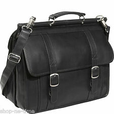 "Piel Leather European 16"" Laptop Full-Grain Colombian Leather Briefcase - New"