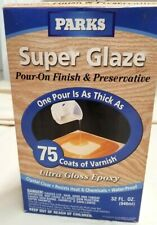 Parks Super Glaze Ultra Glossy Epoxy Finish & Preservative Kit Clear