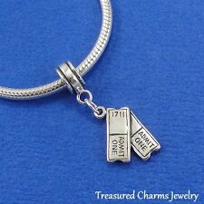.925 Sterling Silver MOVIE SHOW TICKETS Actor Actress EUROPEAN Dangle Bead CHARM