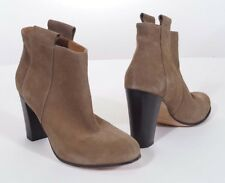Lemare 0604 Womens Taupe Suede Leather Cros Heels Ankle Bootie Boots 10 40 Italy