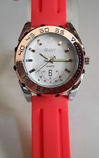 Men's SPORT Silver/Rose Gold/Orange  Silicon Band Fashion Casual Wear Watch