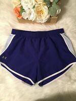 Under Armour Womens Heat Gear Athletic Running Sports Tempo Shorts Sz Small