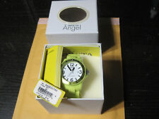 Invicta Women's 1211 Angel White Dial Neon Lime Green Plastic Watch NEW w/ Tags