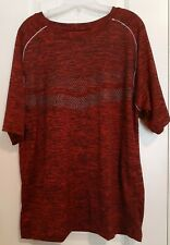 Men's Red Workout Sport Athletic Active Gym Shirt Top Size M Lightweight  00004000
