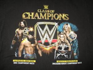 Clash of Champions AJ STYLES vs JINDER MAHAL NATALYA vs CHARLOTTE FLAIR LG Shirt