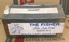 1 Fisher 80-C Master Audio Control Tube Preamplifier in Original Box / Mono 50C